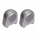 Tweeter Speaker Enclosures, Brushed Silver, 07-10 Jeep Wrangler by Rugged Ridge