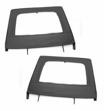 Upper Door Kit, Rear, Black, 07-17 Jeep 4-Door Wrangler by Rugged Ridge