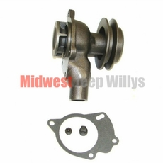 Water Pump with Single Groove Pulley for 1941-1971 Jeep L-134 and F-134 4 Cylinder Engines
