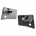 Windshield Auxiliary Light Brackets, Textured Black, 07-18 JK Wrangler by Rugged Ridge
