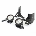 Windshield Bracket LED Kit, Round, 97-06 Wrangler by Rugged Ridge