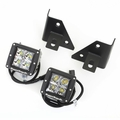 Windshield Bracket LED Kit, Square, 76-95 CJ & Wrangler by Rugged Ridge