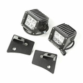 Windshield Bracket LED Kit, Textured Black, Square, 07-17 Wrangler by Rugged Ridge