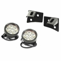 Windshield Bracket LED Light Kit, Round, 07-17 Jeep Wrangler by Rugged Ridge
