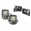 Windshield Bracket LED Light Kit, Square, 07-18 Jeep Wrangler by Rugged Ridge