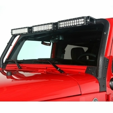 Windshield LED Light Bar Kit, 07-17 Jeep Wrangler by Rugged Ridge