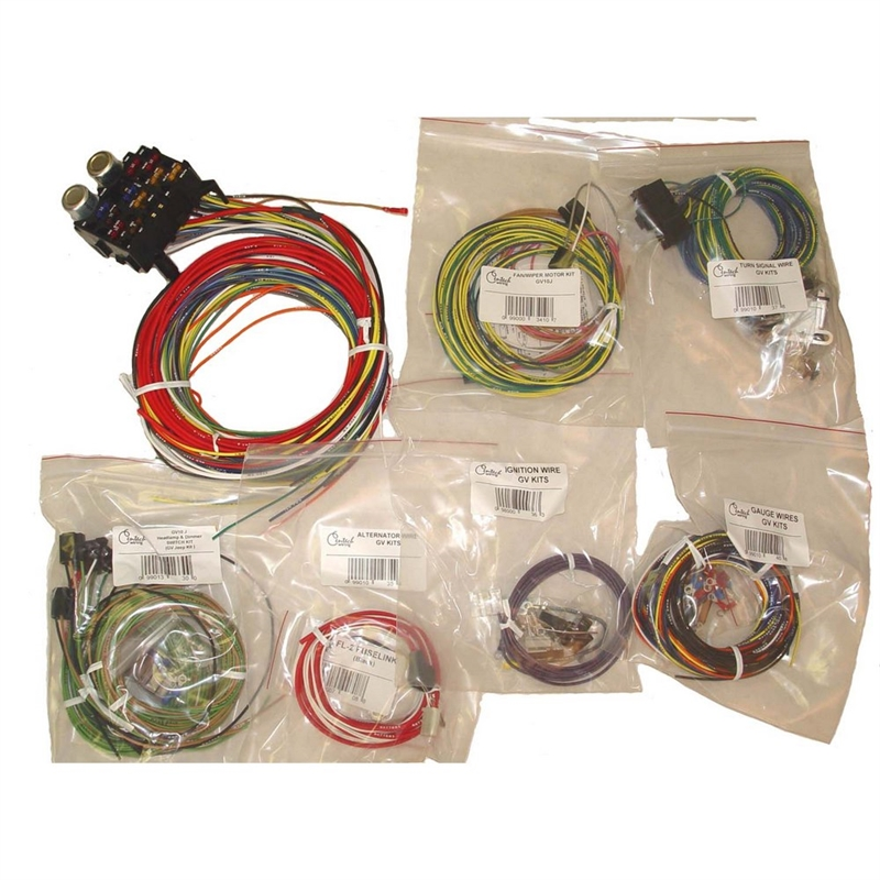 centech wiring harness for 1955 1986 jeep cj5, cj6, cj7 & cj8 scrambler jeep cj5 shift knob wiring harness jeep cj5 #36