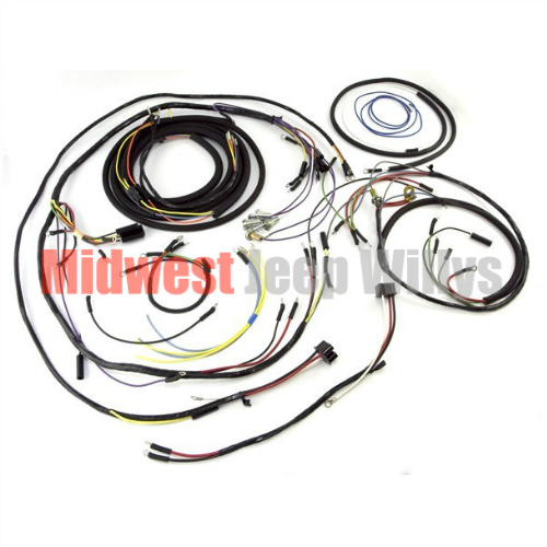 Jeep Part 925133 Complete Plastic Covered Wiring Harness Kit for