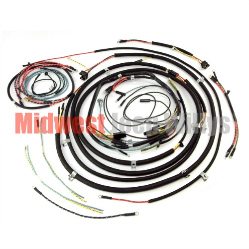 jeep part 809464 complete cloth covered wiring harness kit for 1953 rh midwestjeepwillys com Jeep CJ Wiring Harness Jeep CJ Wiring Harness