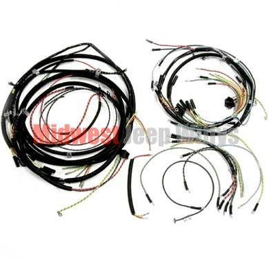 jeep part 643261t wiring harness kit horn on fender with turn signals fits late 1946 1949