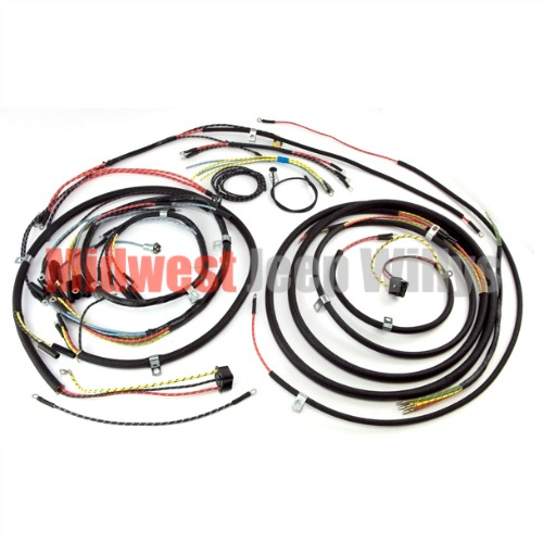 jeep part 645743t wiring harness kit with turn signal wiring for rh midwestjeepwillys com willys cj3a wiring diagram jeep cj3a wiring harness