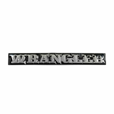 Wrangler Emblem for 1987-1990 Jeep Wrangler, MOPAR Officially Licensed Product
