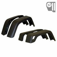 7-inch Wide, 4 Piece Factory-Style Replacement Fender Flare Kit, fits 1997-06 Jeep Wrangler TJ and 2004-06 Wrangler LJ