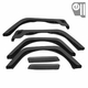 6 Piece Factory-Style Replacement Fender Flare Kit, fits 1997-06 Jeep Wrangler TJ and 2004-06 Wrangler LJ