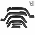 6 Piece Factory-Style Replacement Fender Flare Kit, fits 1987-95 Jeep Wrangler YJ