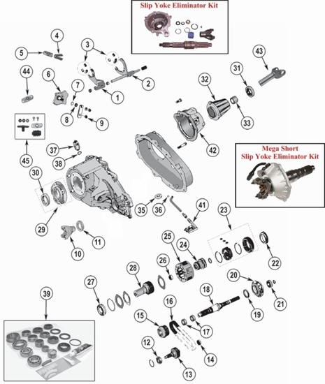 jeep wrangler tj np231 transfer case parts from midwest jeep willys