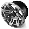 XHD Aluminum Wheel, Gun Metal, 17 inch X 9 inches by Rugged Ridge