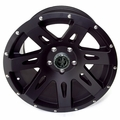 XHD Aluminum Wheel, Black Satin, 17 inch X 9 inches by Rugged Ridge