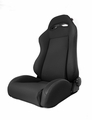 Sport Front Seat, Reclinable, Black Denim, 76-02 Jeep CJ and Wrangler by Rugged Ridge