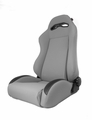 Sport Front Seat, Reclinable, Gray, 76-02 Jeep CJ and Wrangler by Rugged Ridge