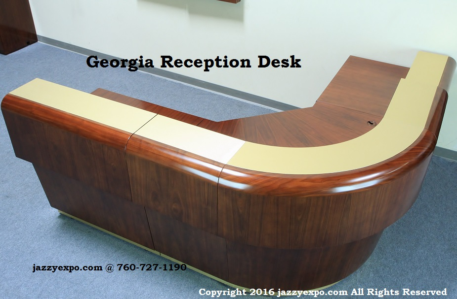 georgia reception desk with 2 extensions