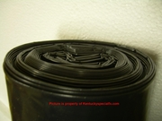 10 Mil Black Out Fire Retardant Haunted Attraction Temporary Wall Barrier 24ft x 100ft roll