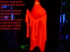 Animated Halloween Floating Blacklight Ghost Prop Red Skeleton