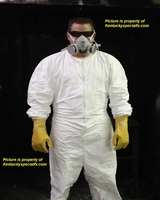 Complete Biohazard Chem Lab Facility Halloween Costume with Yellow Glove Option Respirator Included