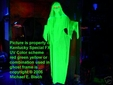 Creepy Hanging Blacklight Ghost Prop Lady Style Green Life-Size and Life-Like UV