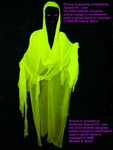 Evil Faceless Yellow Hooded UV Blacklight Floating Ghost Prop