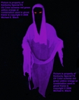 Halloween Hanging Ghost Decoration Purple Faceless