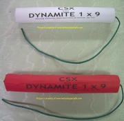 Fake Dynamite Stick Theatrical Stage Prop Replica With Real Lightable Fuse