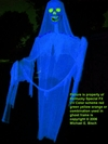 GIANT HALLOWEEN GLOWING YARD GHOST PROP BLUE SKELETON OUTDOOR BLACKLIGHT