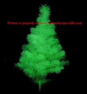 Green Glow in the Dark Christmas Tree Decoration Glowing X-mas Version