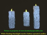 Halloween Floating Blacklight Candle Illusion White Battery Operated