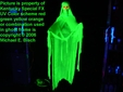 Halloween Floating Blacklight Ghost Prop Realistic Green Skeleton