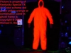 Halloween Ghost Glow Suit Outfit Red Costume Jumpsuit
