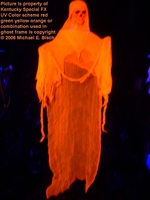 Halloween Hanging Decoration Ghost Orange Skeleton