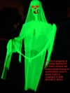 Halloween Hanging Ghost Decoration Giant Skeleton Prop Green