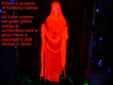 Halloween Hanging Ghost Decoration Red Lady Prop