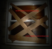 Halloween or Haunted House Fake False Faux Realistic Looking Window Board Prop Kit