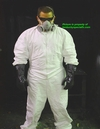Halloween Resident Evil / Back to the Future Biohazard Radiation Costume Chemical Outfit Laboratory Suit Black Gloves Respirator Included