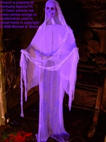 Hanging Halloween Floating Blacklight Ghost Prop Purple Skeleton