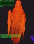 Lifesize Hanging Halloween Ghost Decoration Lifesize Orange Lady