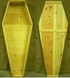 Real Life Size Pine Box Toe Pincher Coffin Custom Casket Prop Old West