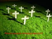 Realistic Cemetery Graveyard Cross Tombstone Lifesize Halloween Prop