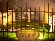Halloween Cemetery Graveyard Fence Prop Barrier Theatrical Gate