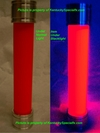 Glow Vial Halloween Prop Mad Scientist Cosplay Escape Room Accessory Red