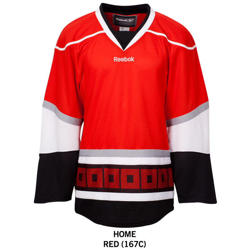 Carolina Hurricanes Reebok Edge Gamewear Uncrested Adult Hockey Jersey a0fc9894a