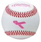 Diamond Pink Breast Cancer Awareness Theme Baseball